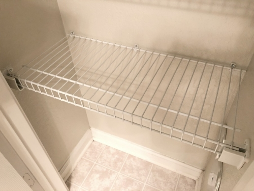 wire shelving in closet - easy wire shelving hacks