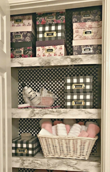 closet shelves updated with wire shelving hacks