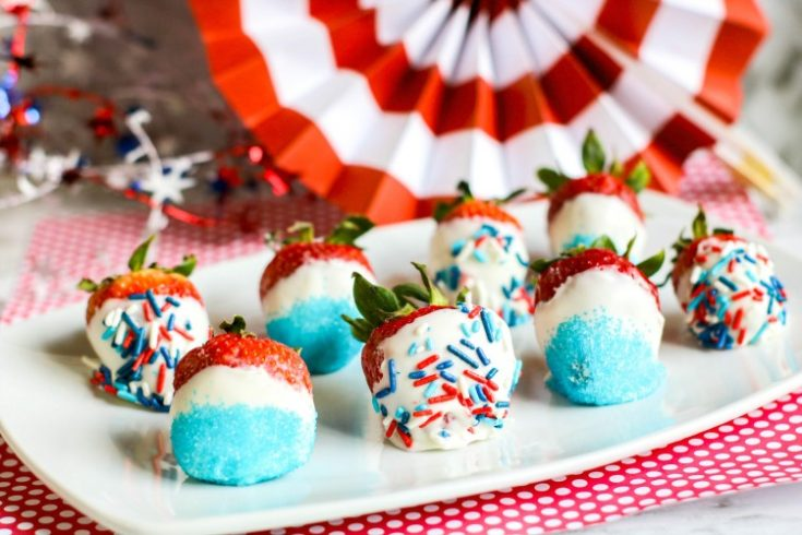 Patriotic Dipped Strawberries
