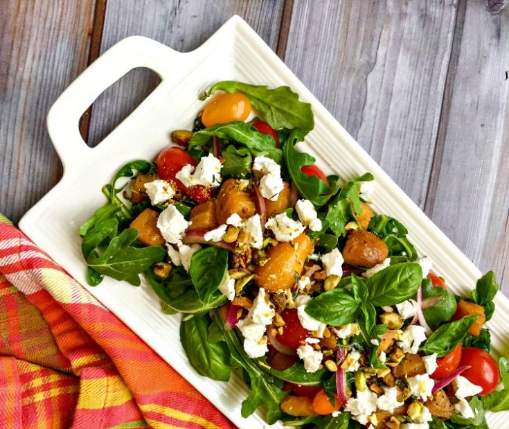 Roasted Golden Beet and Goat Cheese Salad