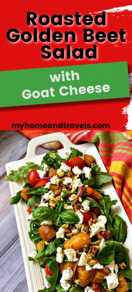 roasted golden beet salad with goat cheese pinterest