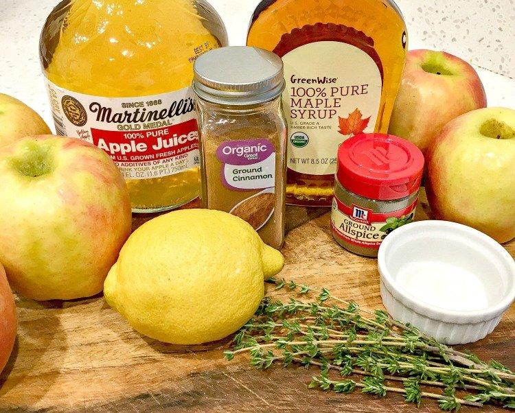 baked cinnamon apple crisp ingredients