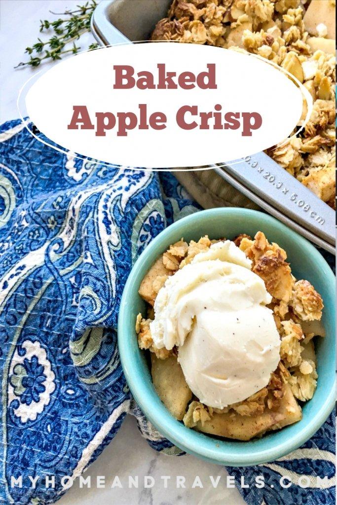 baked cinnamon apple crisp pinterest image