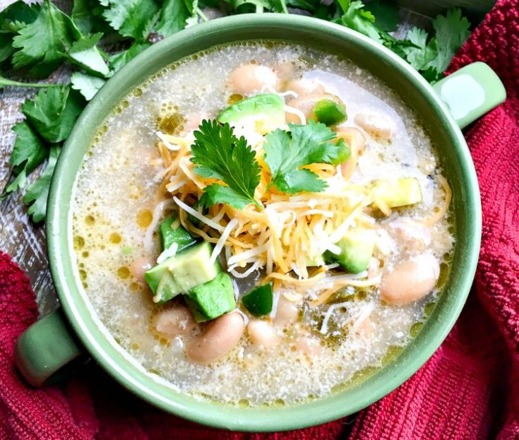 warm bowl of white chicken chili my home and travels