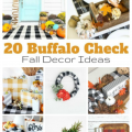 20 Buffalo Check Fall Decor Ideas my home and travels featured image