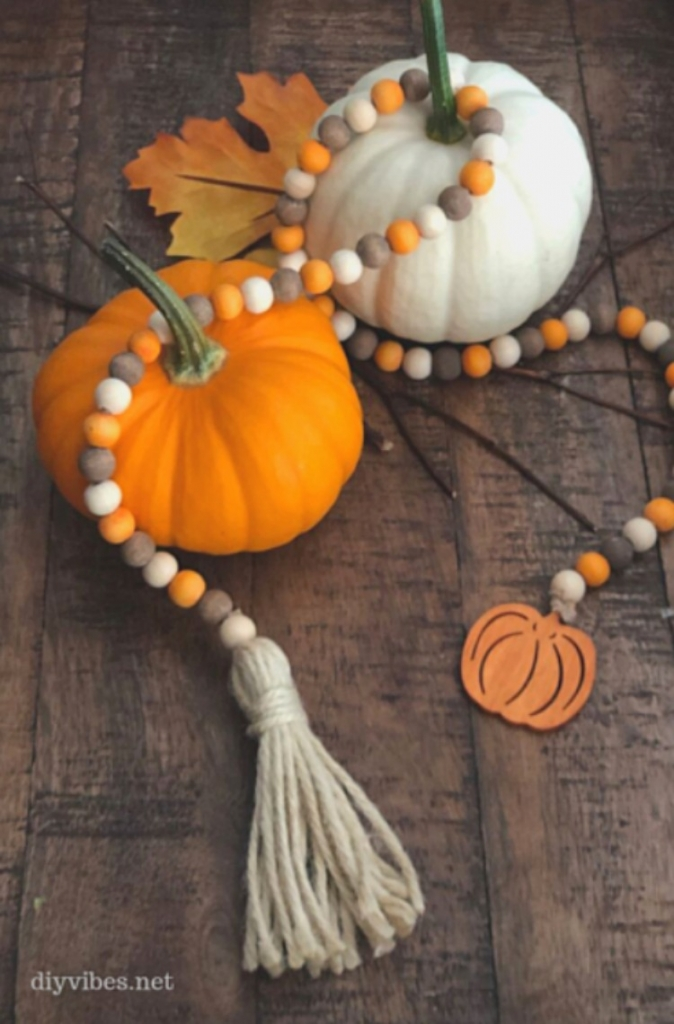 beaded garland diy fall decor round up of ideas