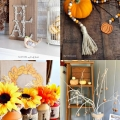 feature of sample items diy fall decor round up of ideas