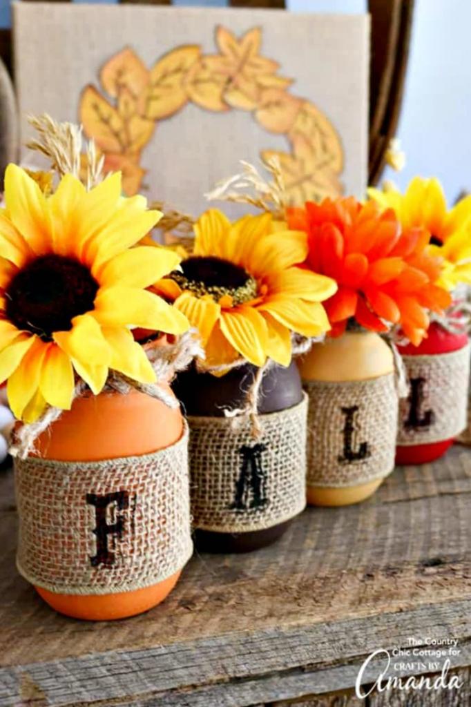 fall mason jars diy fall decor round up of ideas