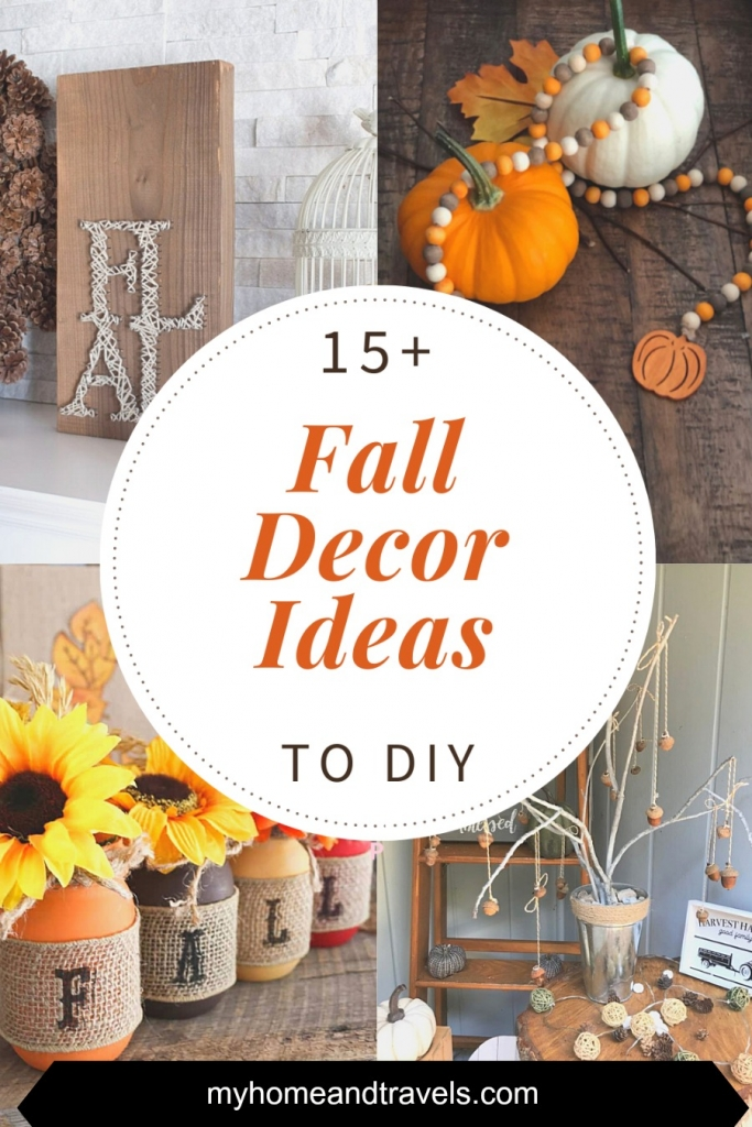 pinterest image for fall ideas diy fall decor round up of ideas