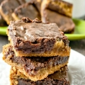 plate full of Fudgy Chocolate Peanut Butter Brownie You'll Love my home and travels