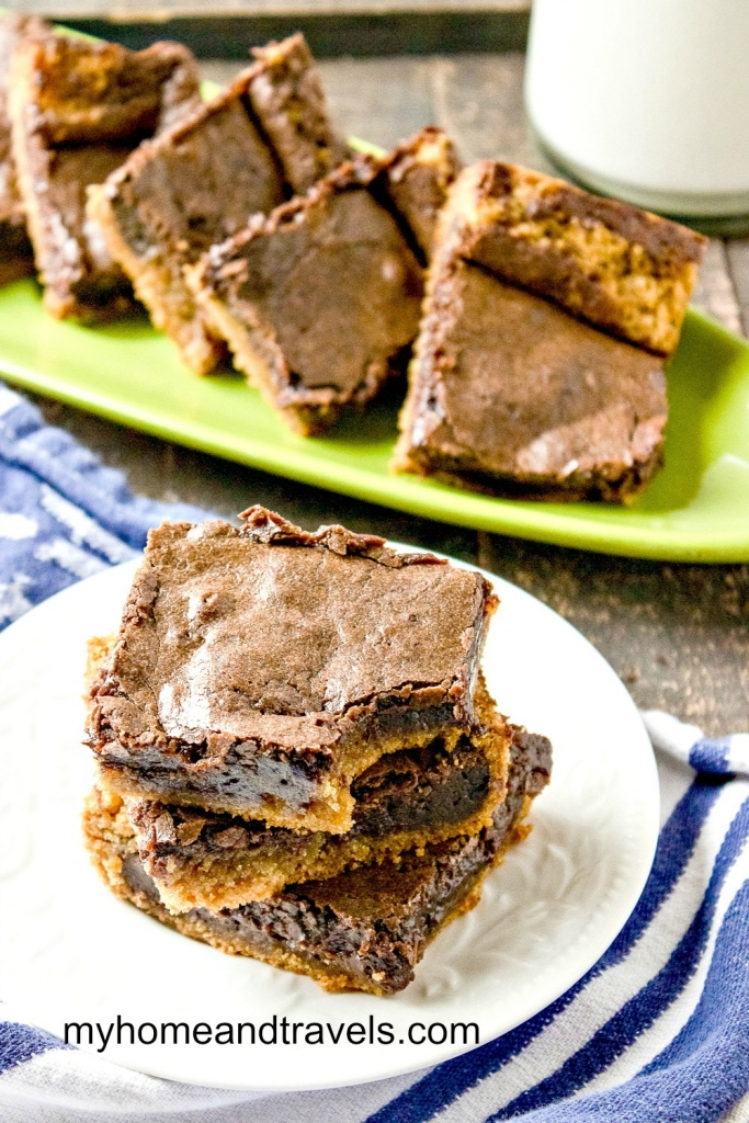 Fudgy Chocolate Peanut Butter Brownie You'll Love my home and travels plate of for pinterest