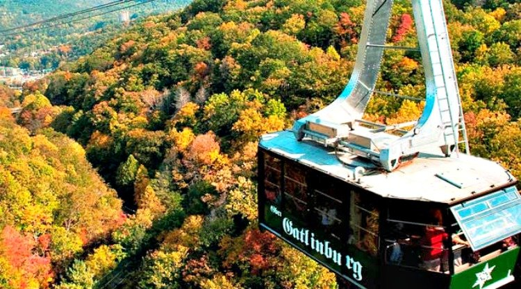 gatlinburg-attractions-feature-my-home-and-travels tram ride fall foliage