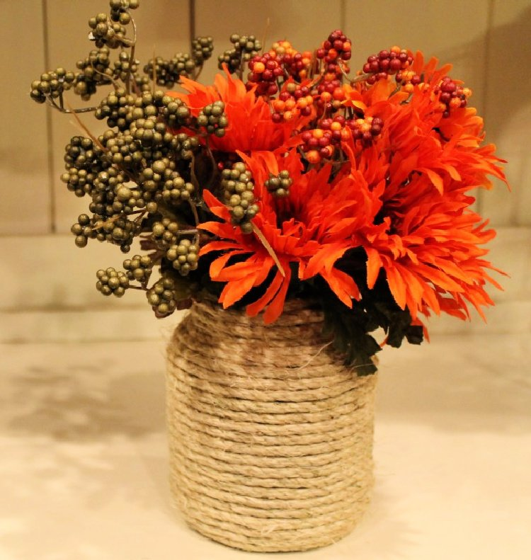 great-diy-fall-decor-ideas-my-home-and-travels fall twine jars