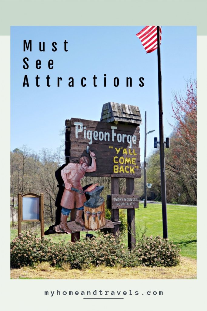 attractions of pigeon forge my home and travels pinterest image