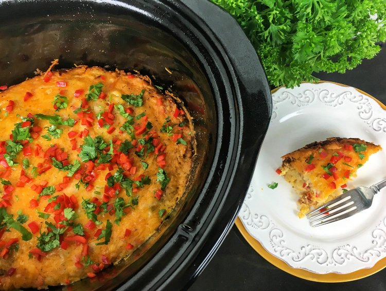 slowcooker-southwestern-breakfast-casserole-my-home-and-travels plated