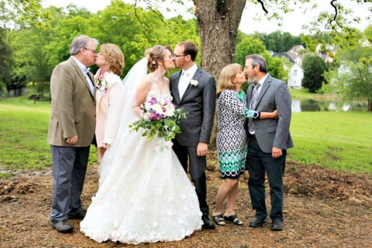 small wedding with family gathering to celebrate, a farmhouse gathering my home and travels