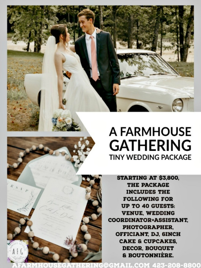 Wedding on a budget wedding package by A Farmhouse Gathering, Pinterest image for my home and travels