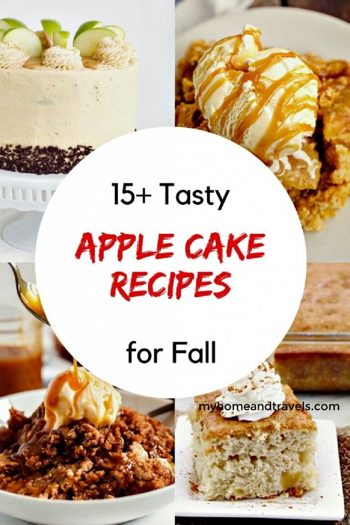 apple cakes for fall my home and travels pinterest image
