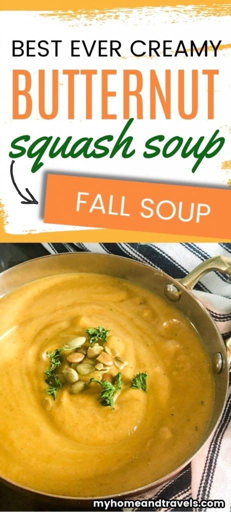Slow Cooker butternut squash soup pinterest image