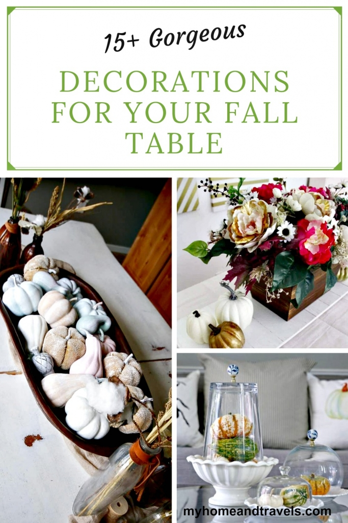 fall table decor my home and travels pinterest image