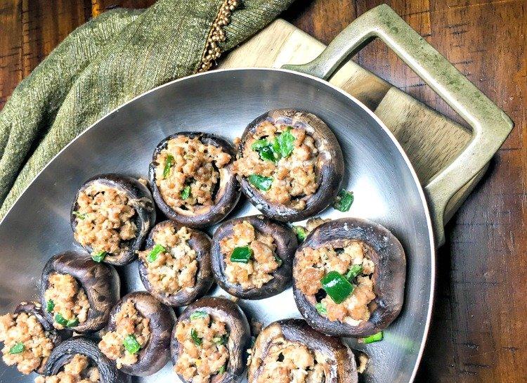 spicy turkey stuffed mushrooms
