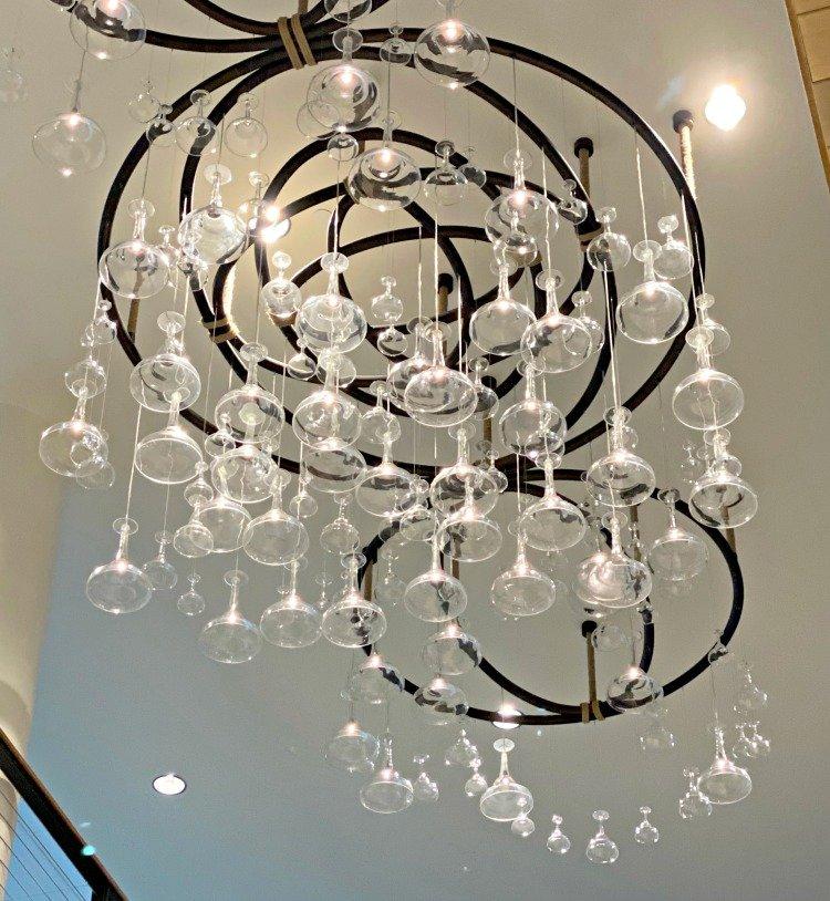 Enjoying Margaritaville Hotel - Best Place To Stay In Nashville chandelier margarita glasses