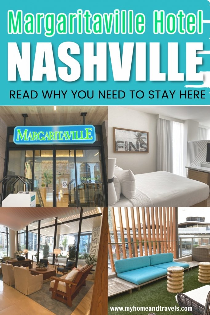 Enjoying Margaritaville Hotel - Best Place To Stay In Nashville entrance sign pin image