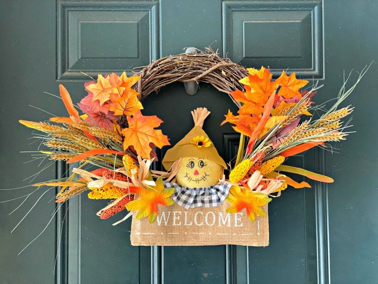 Updating A Simple Fall Wreath finished pic