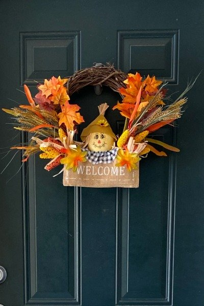 Updating A Simple Fall Wreath FEATURED IMAGE