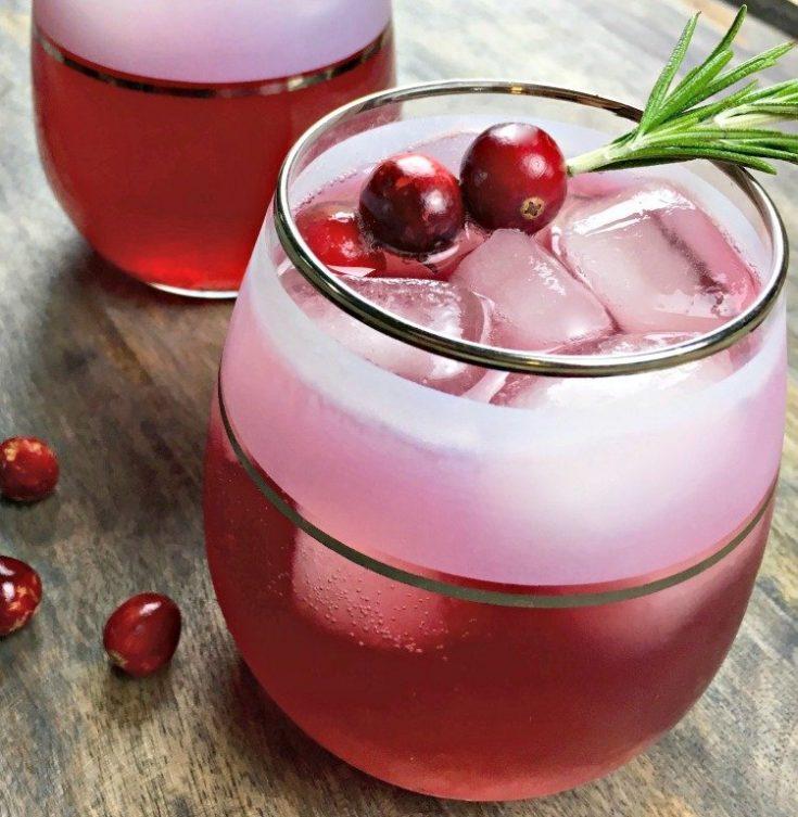 spicy infused cranberry spritzer recipe image