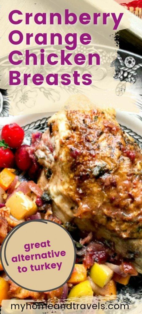 Cranberry Orange Chicken Breasts pinterest image