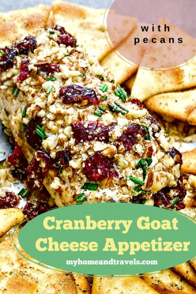 cranberry-pecan-goat cheese appetizer pinterest image posted