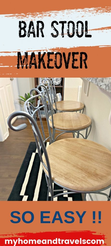 easy barstool makeover my home and travels featured image
