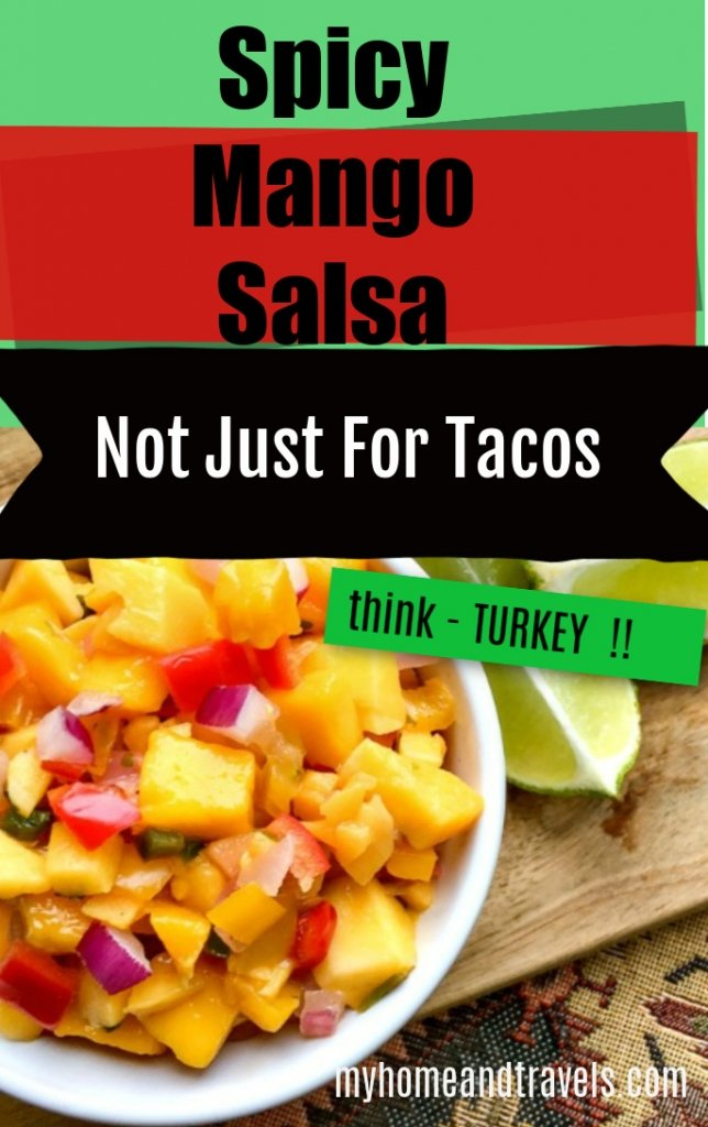 spicy mango salsa not for tacos pinterest image