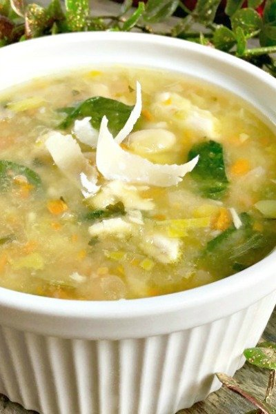 turkey white bean soup featured image