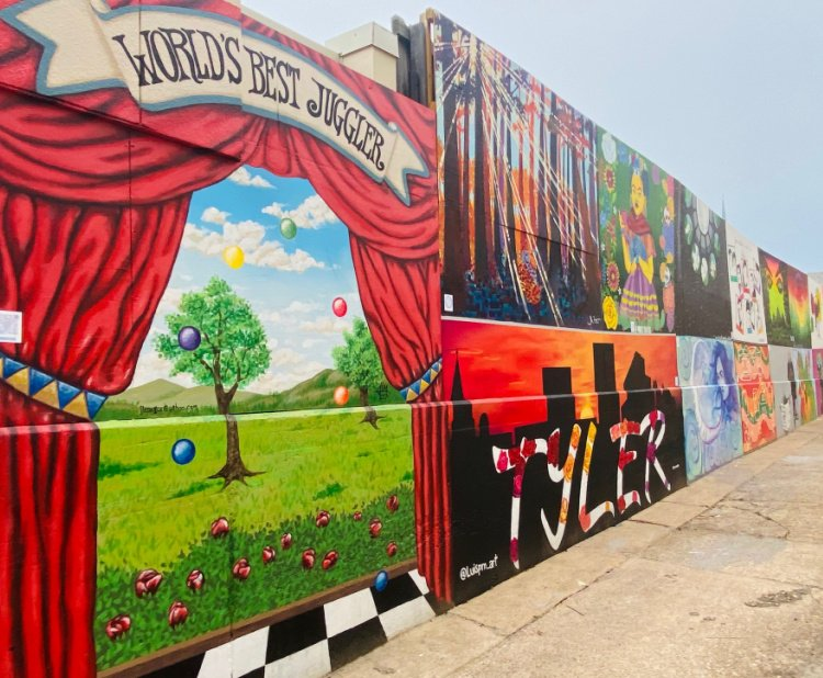 things-to-see-and-do-in-tyler-texas-my-home-and-travels- art alley length shot
