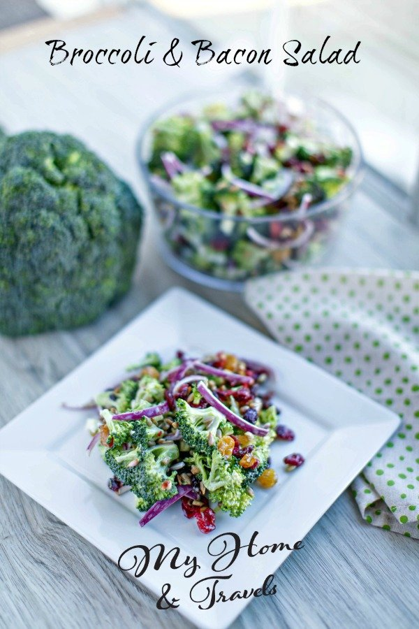broccoli and bacon salad my home and travels