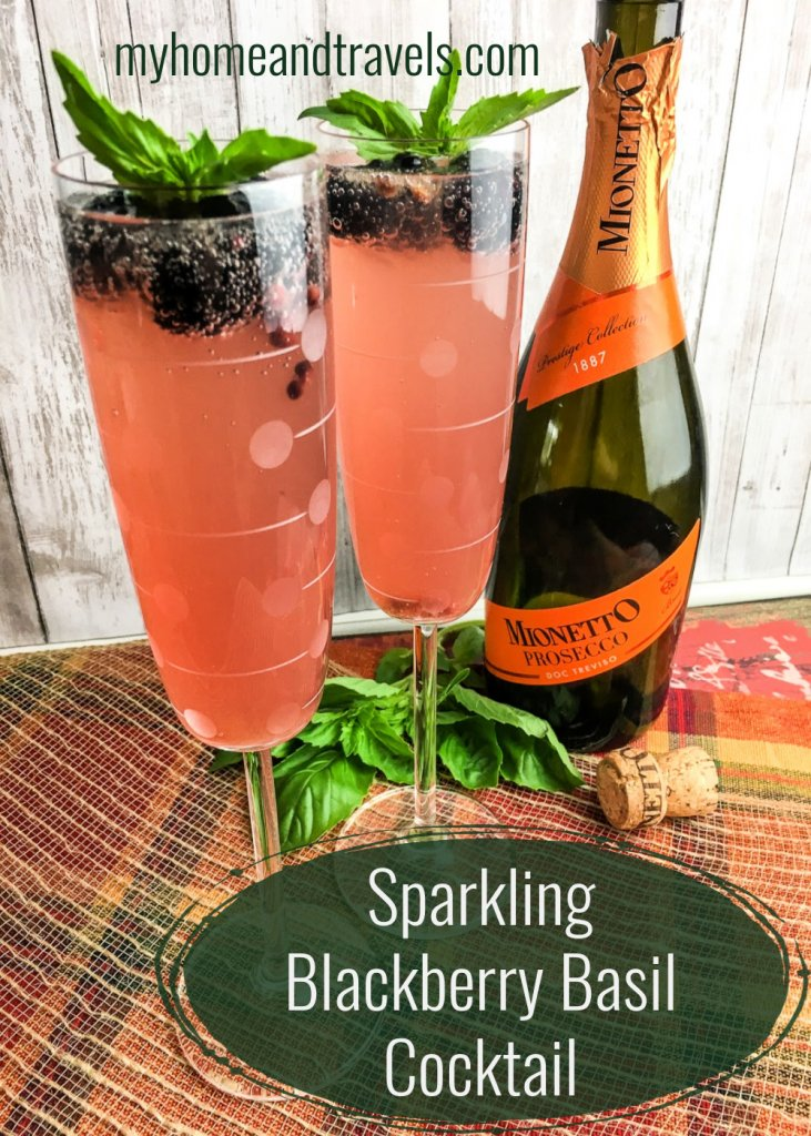 sparkling blackberry basil cocktail my home and travels