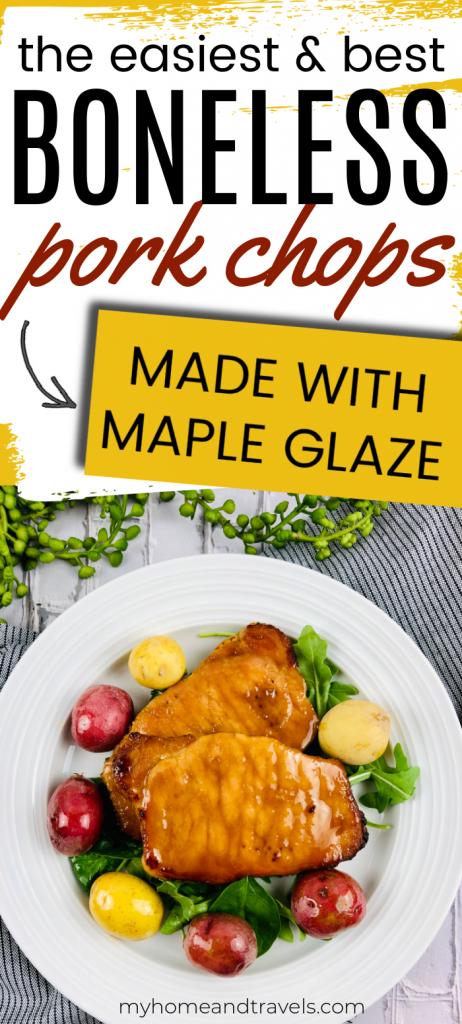 maple glazed bonesless pork chops my home and travels pinterest image