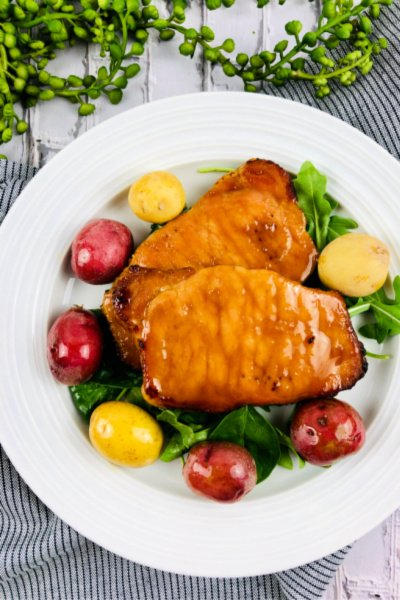 maple glazed bonesless pork chops my home and travels featured image