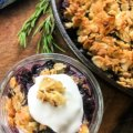 Simple Blueberry Crisp with Maple Syrup my home and travels image featured