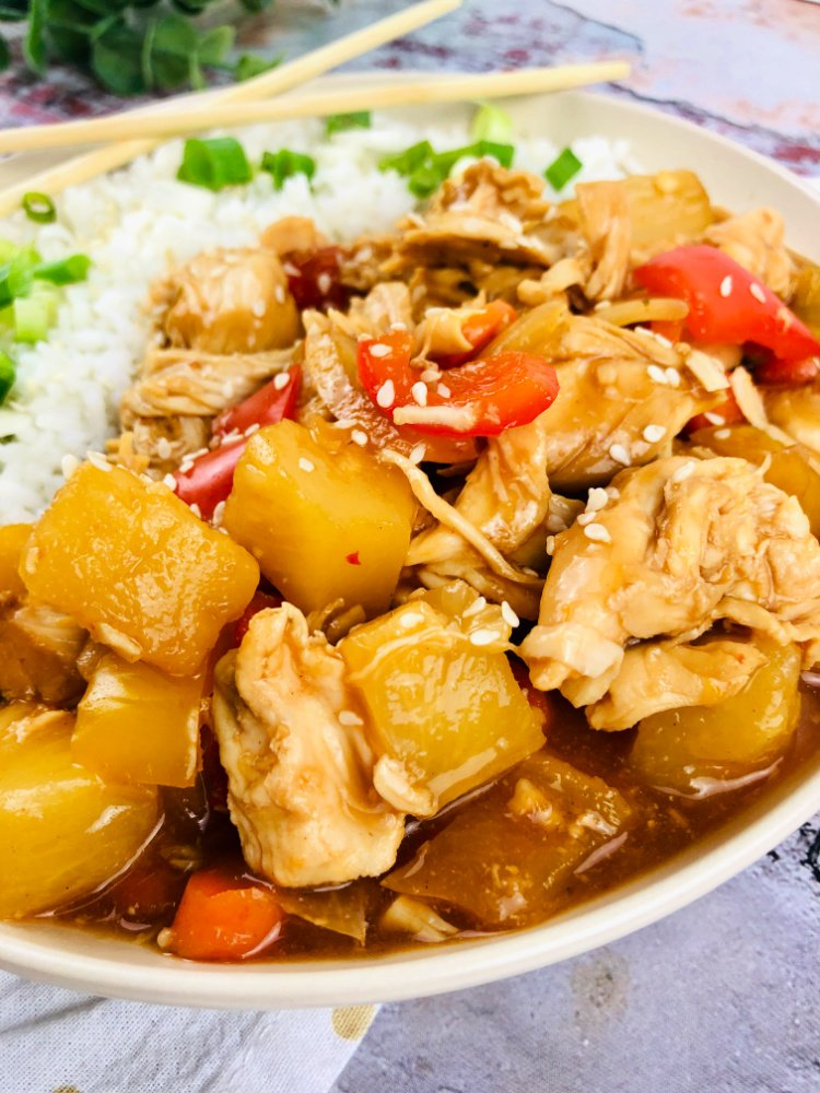 slow cooker sweet and sour chicken my home and travels cooked