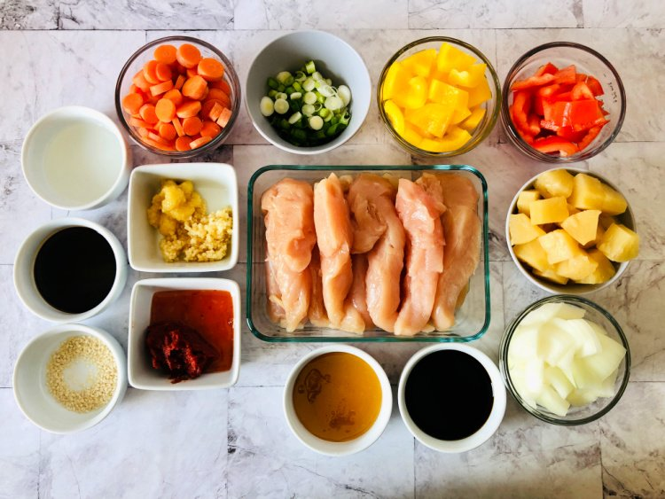 slow cooker sweet and sour chicken my home and travels ingredients