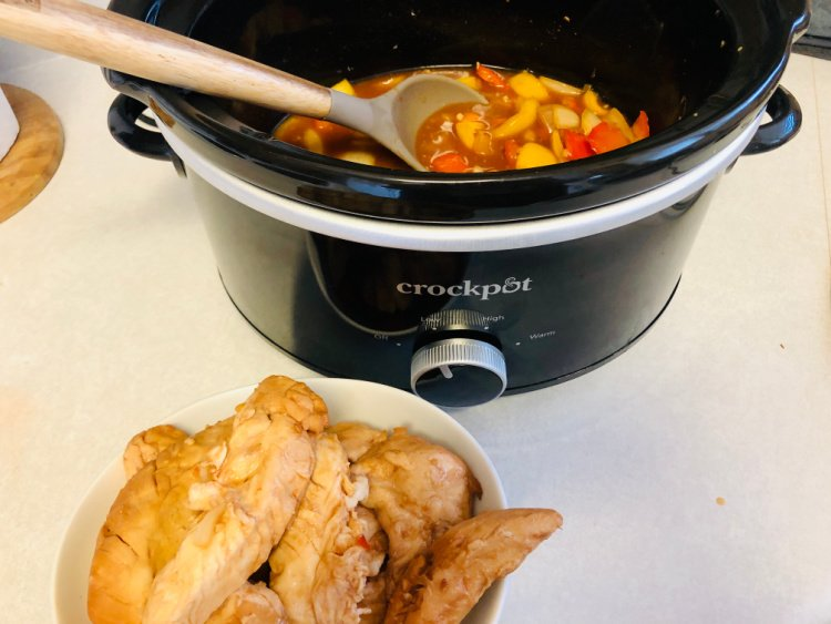 slow cooker sweet and sour chicken my home and travels