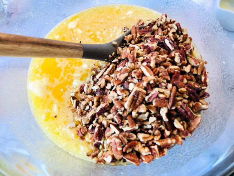 Pecan Pie Bar Recipe my home and travels add pecans to filling