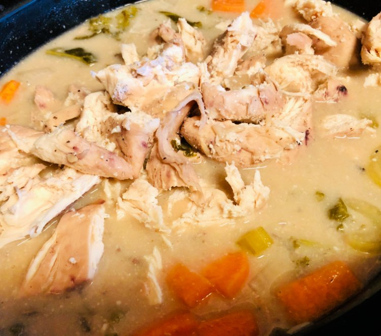 slow cooker chicken and wild rice soup my home and travels finished soup